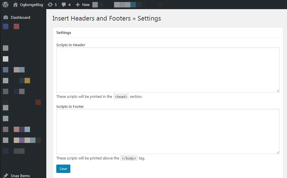 insert headers and footers plugin wordpress development