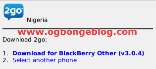 Download 2go for Blackberry(version 3): Free 2go Chat with BIS