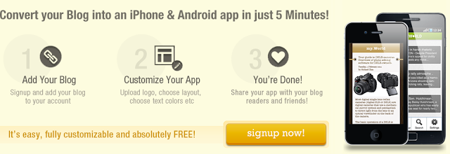 create app for your blog