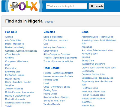 screenshot of OLX.com