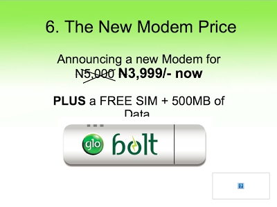 Price of glo bolt modem