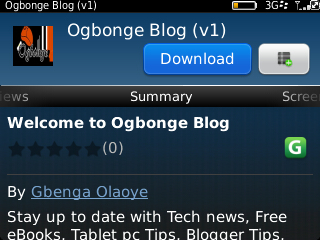 Download OgbongeBlog's BB App from Blackberry App World – OgbongeBlog