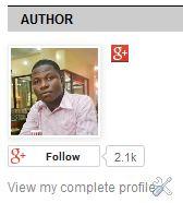 Blogger about me widget without decription