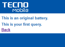 TEcno battery check