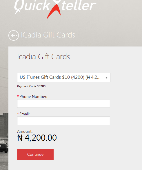 Buy Us Itunes Gift Cards In Nigeria At Quickteller With Atm Card