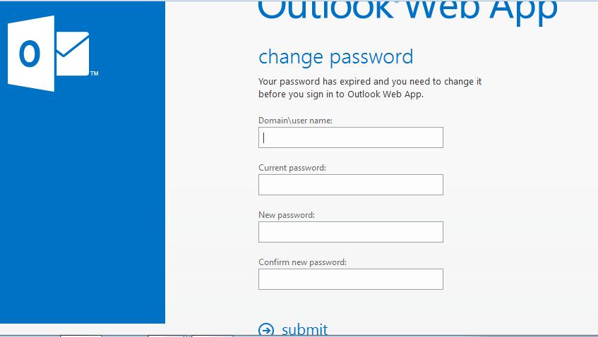 change OWA password