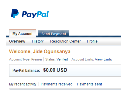 Verified Paypal account
