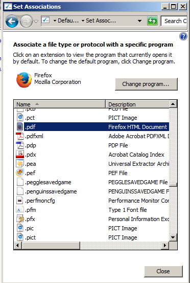 file association on windows 7