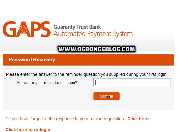 GAPS password reset