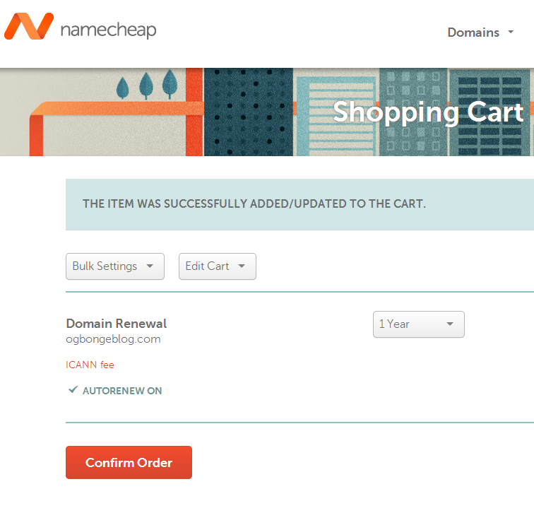 renew namecheap domain name
