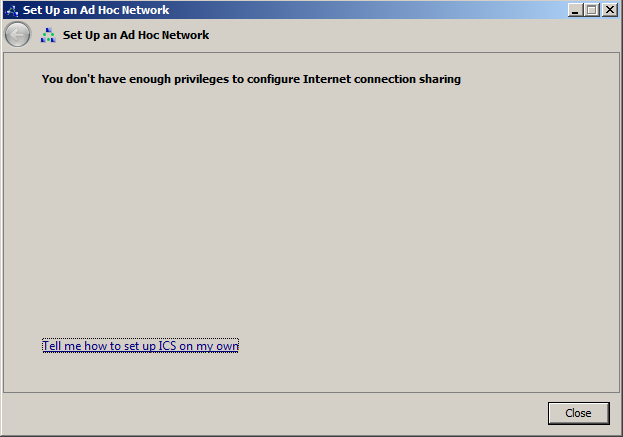 You Don't Have Enough Privileges To Configure Internet