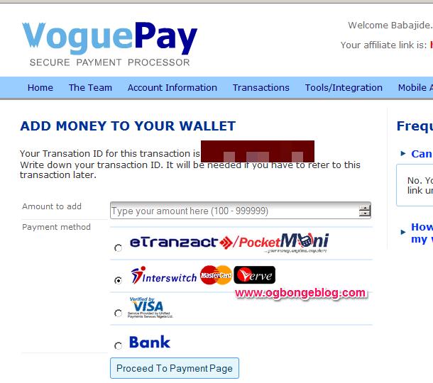 fund voguepay account