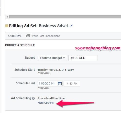 schedule fb ads