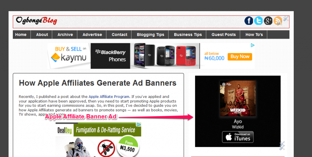 Apple Affiliate Banner ad 300x250