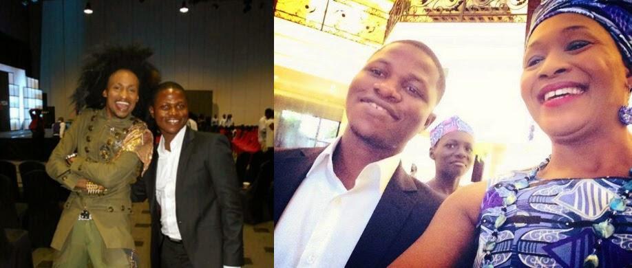 Jide photos with Denrele and Kemi Olunloyo