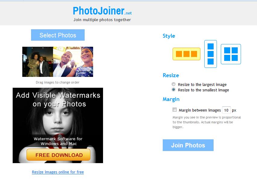 merge photos online