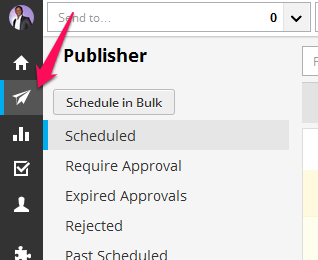 what does auto scheduled mean on hootsuite