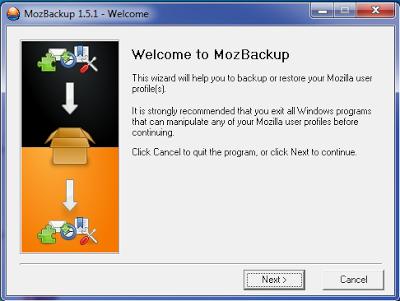 mozbackup utility