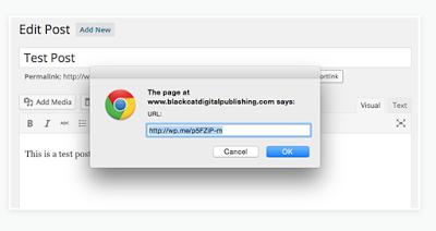 jetpack url shortening feature
