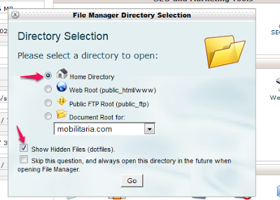 cPanel fule Manager