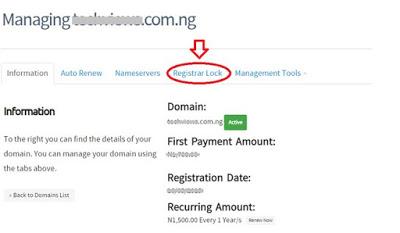 whogohost registrar lock