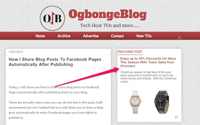 Blogger Featured post gadget