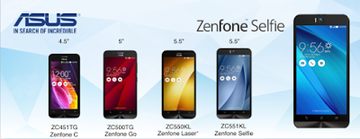 zenfone family of smartphones