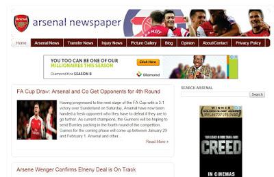 Arsenal Newspaper blog