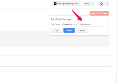 add blogger sitemap to google webmaster tools