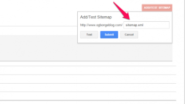 blogger sitemap xml url you should add to bing and google webmaster
