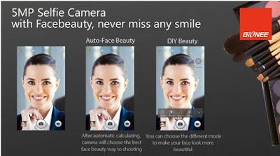 gionee m5 selfie camera