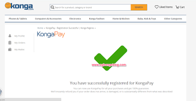 kongapay registration successful