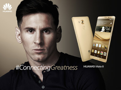huawei and lionel messi