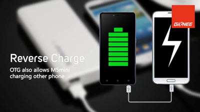 gionee m5 mini reverse charging technology