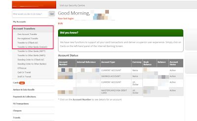 gtbank internet banking dashboard