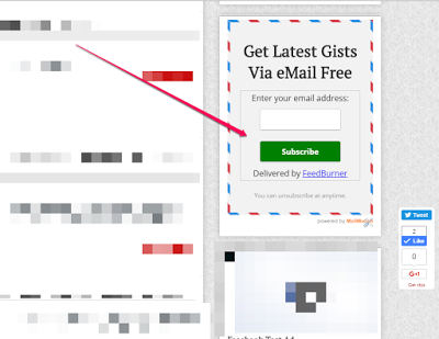 mailmunch feedburner sample embedded email marketing form