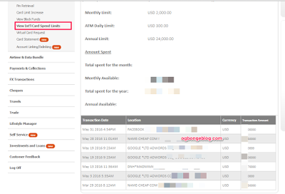 gtbank internet banking mastercard transactions