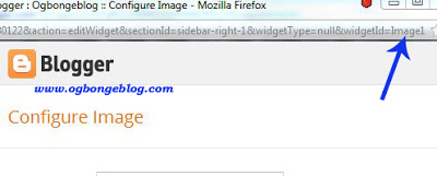 get Blogger widget id