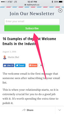 mailmunch top bar email marketing