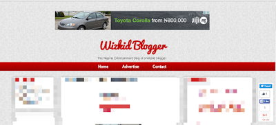 center ad banner in blogger header