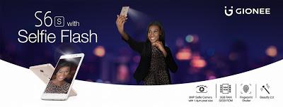 Gionee S6 Selfie Flash spec Nigeria