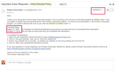 amazon account closed warning