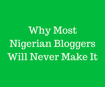 why nigerian bloggers don't make money online