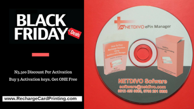 nigeria black friday deals for netdivo recharge card printing software