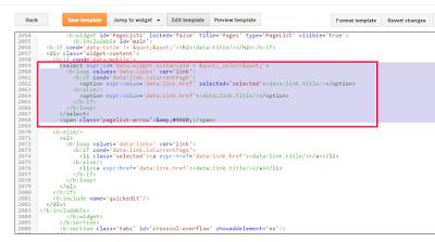 pagelist widget code blogspot design