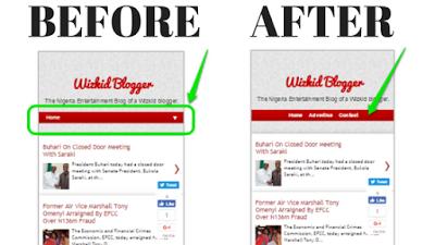 remove dropdown menu on blogspot mobile view