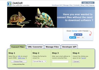 zamzar free online file converter