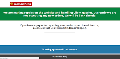 domainking nigeria website