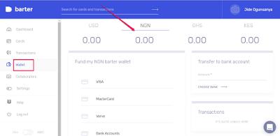 fund barter virtal mastercard wallet nigeria
