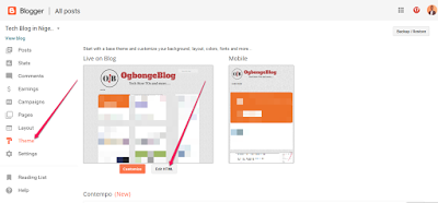 edit html in blogger themes